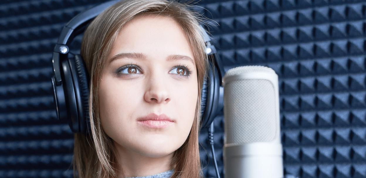 voice over vrouw